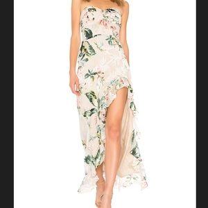 Amanda Uprichard Eden Gown - Tropical Floral Dress